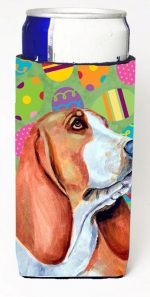 Carolines Treasures LH9422MUK Basset Hound Easter Eggtravaganza Michelob Ultra s For Slim Cans - 12 oz.