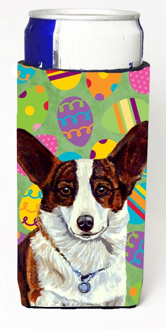 Carolines Treasures LH9423MUK Corgi Easter Eggtravaganza Michelob Ultra s For Slim Cans - 12 oz.