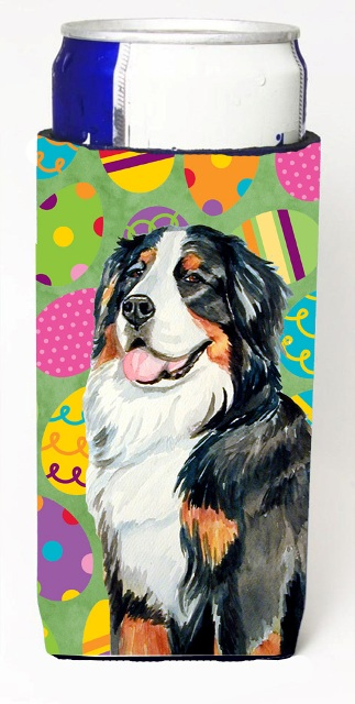 Carolines Treasures LH9424MUK Bernese Mountain Dog Easter Eggtravaganza Michelob Ultra s For Slim Cans - 12 oz.