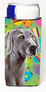 Carolines Treasures LH9431MUK Weimaraner Easter Eggtravaganza Michelob Ultra s For Slim Cans - 12 oz.