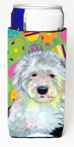 Carolines Treasures LH9441MUK Old English Sheepdog Easter Eggtravaganza Michelob Ultra s For Slim Cans - 12 oz.