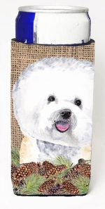 Carolines Treasures SC9047MUK Bichon Frise Michelob Ultra bottle sleeves For Slim Cans - 12 oz.