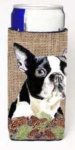 Carolines Treasures SC9051MUK Boston Terrier Michelob Ultra bottle sleeves For Slim Cans - 12 oz.