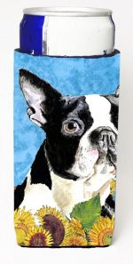 Carolines Treasures SC9063MUK Boston Terrier Michelob Ultra bottle sleeves For Slim Cans - 12 oz.