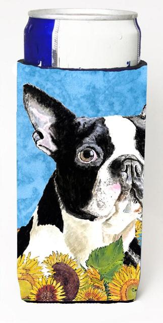 Carolines Treasures SC9063MUK Boston Terrier Michelob Ultra bottle sleeves For Slim Cans - 12 oz.