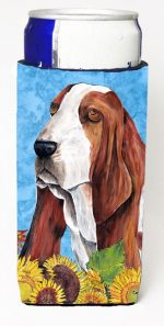 Carolines Treasures SC9066MUK Basset Hound Michelob Ultra bottle sleeves For Slim Cans - 12 oz.