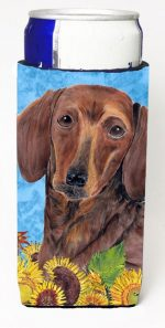 Carolines Treasures SC9072MUK Dachshund Michelob Ultra bottle sleeves For Slim Cans - 12 oz.