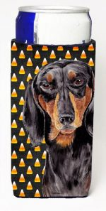 Carolines Treasures SC9174MUK Dachshund Candy Corn Halloween Portrait Michelob Ultra s For Slim Cans - 12 oz.