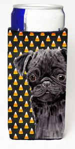 Carolines Treasures SC9176MUK Pug Candy Corn Halloween Portrait Michelob Ultra s For Slim Cans - 12 oz.