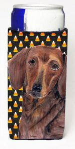 Carolines Treasures SC9178MUK Dachshund Candy Corn Halloween Portrait Michelob Ultra s For Slim Cans - 12 oz.