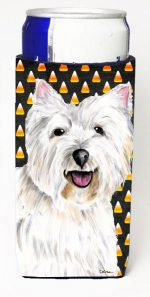 Carolines Treasures SC9180MUK Westie Candy Corn Halloween Portrait Michelob Ultra s For Slim Cans - 12 oz.