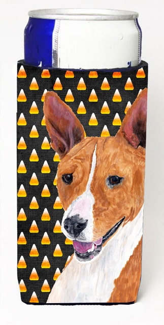 Carolines Treasures SC9185MUK Basenji Candy Corn Halloween Portrait Michelob Ultra s For Slim Cans - 12 oz.