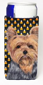Carolines Treasures SC9186MUK Yorkie Candy Corn Halloween Portrait Michelob Ultra s For Slim Cans - 12 oz.