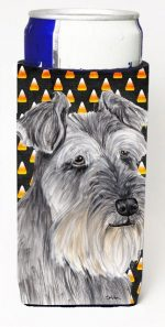 Carolines Treasures SC9188MUK Schnauzer Candy Corn Halloween Portrait Michelob Ultra s For Slim Cans - 12 oz.