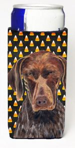 Carolines Treasures SC9189MUK German Shorthaired Pointer Candy Corn Halloween Portrait Michelob Ultra s For Slim Cans - 12 oz.