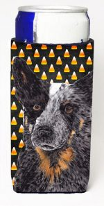 Carolines Treasures SC9190MUK Australian Cattle Dog Candy Corn Halloween Portrait Michelob Ultra s For Slim Cans - 12 oz.