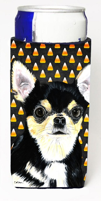 Carolines Treasures SC9197MUK Chihuahua Candy Corn Halloween Portrait Michelob Ultra s For Slim Cans - 12 oz.