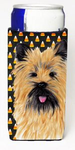 Carolines Treasures SC9199MUK Cairn Terrier Candy Corn Halloween Portrait Michelob Ultra s For Slim Cans - 12 oz.
