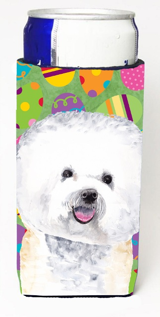Carolines Treasures SC9442MUK Bichon Frise Easter Eggtravaganza Michelob Ultra s For Slim Cans - 12 oz.