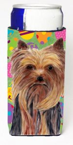 Carolines Treasures SC9445MUK Yorkie Easter Eggtravaganza Michelob Ultra s For Slim Cans - 12 oz.