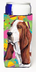 Carolines Treasures SC9452MUK Basset Hound Easter Eggtravaganza Michelob Ultra s For Slim Cans - 12 oz.
