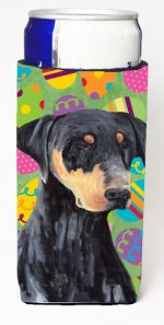Carolines Treasures SC9457MUK Doberman Easter Eggtravaganza Michelob Ultra s For Slim Cans - 12 oz.