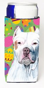 Carolines Treasures SC9461MUK Pit Bull Easter Eggtravaganza Michelob Ultra s For Slim Cans - 12 oz.