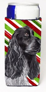 Carolines Treasures SC9610MUK Cocker Spaniel Candy Cane Christmas Michelob Ultra bottle sleeves For Slim Cans - 12 oz.