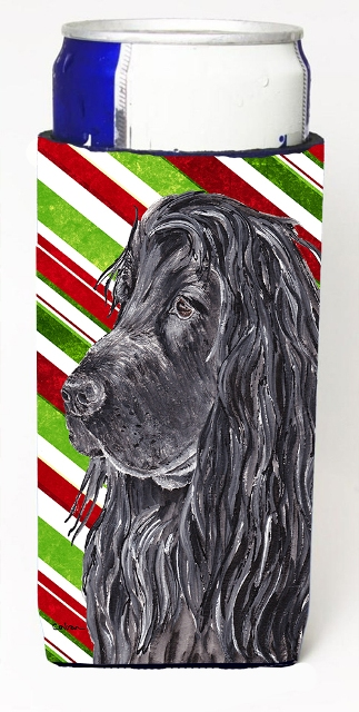 Carolines Treasures SC9611MUK English Cocker Spaniel Candy Cane Christmas Michelob Ultra bottle sleeves For Slim Cans - 12 oz.