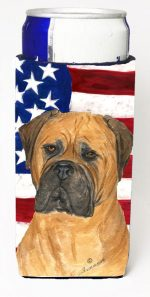 Carolines Treasures SS4001MUK Usa American Flag With Bullmastiff Michelob Ultra s For Slim Cans - 12 oz.