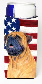 Carolines Treasures SS4004MUK Usa American Flag With Bullmastiff Michelob Ultra s For Slim Cans - 12 oz.