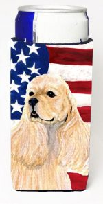 Carolines Treasures SS4006MUK Usa American Flag With Cocker Spaniel Michelob Ultra s For Slim Cans - 12 oz.