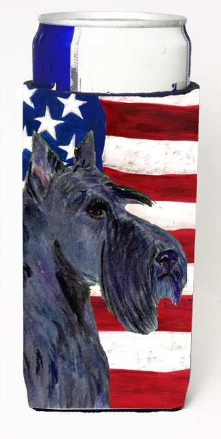 Carolines Treasures SS4014MUK Usa American Flag With Scottish Terrier Michelob Ultra s For Slim Cans - 12 oz.