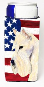 Carolines Treasures SS4015MUK Usa American Flag With Scottish Terrier Michelob Ultra s For Slim Cans - 12 oz.