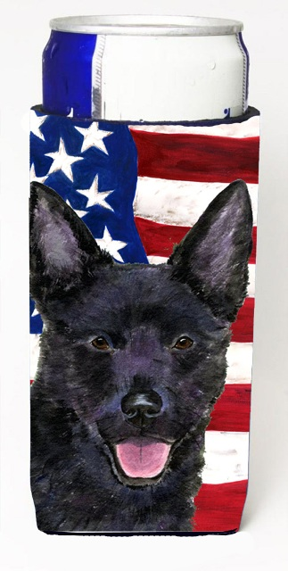 Carolines Treasures SS4025MUK Usa American Flag With Australian Kelpie Michelob Ultra s For Slim Cans - 12 oz.