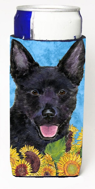 Carolines Treasures SS4131MUK Australian Kelpie In Summer Flowers Michelob Ultra bottle sleeves For Slim Cans - 12 oz.
