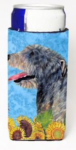 Carolines Treasures SS4139MUK Irish Wolfhound In Summer Flowers Michelob Ultra bottle sleeves For Slim Cans - 12 oz.