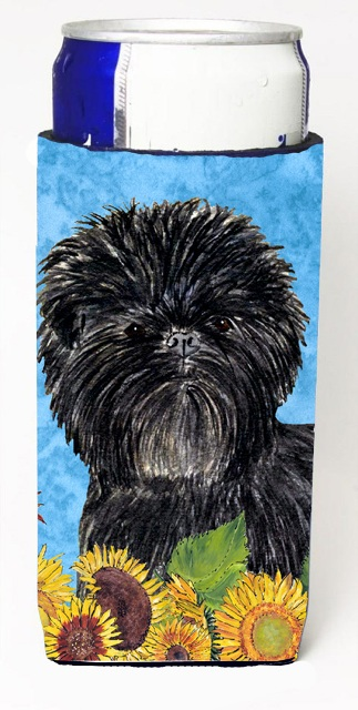 Carolines Treasures SS4144MUK Affenpinscher In Summer Flowers Michelob Ultra bottle sleeves For Slim Cans - 12 oz.