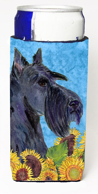 Carolines Treasures SS4163MUK Scottish Terrier In Summer Flowers Michelob Ultra bottle sleeves For Slim Cans - 12 oz.