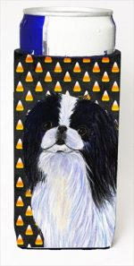 Carolines Treasures SS4260MUK Japanese Chin Candy Corn Halloween Portrait Michelob Ultra bottle sleeves For Slim Cans - 12 Oz.