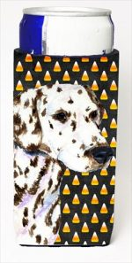 Carolines Treasures SS4262MUK Dalmatian Candy Corn Halloween Portrait Michelob Ultra bottle sleeves For Slim Cans - 12 Oz.