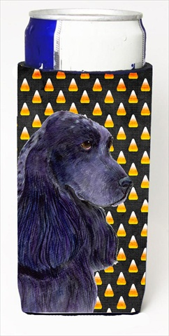 Carolines Treasures SS4264MUK Cocker Spaniel Candy Corn Halloween Portrait Michelob Ultra bottle sleeves For Slim Cans - 12 Oz.
