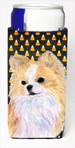 Carolines Treasures SS4266MUK Chihuahua Candy Corn Halloween Portrait Michelob Ultra bottle sleeves For Slim Cans - 12 Oz.