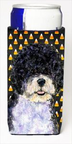 Carolines Treasures SS4284MUK Portuguese Water Dog Candy Corn Halloween Portrait Michelob Ultra bottle sleeves For Slim Cans - 12 Oz.