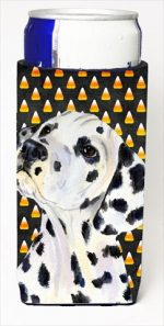 Carolines Treasures SS4286MUK Dalmatian Candy Corn Halloween Portrait Michelob Ultra bottle sleeves For Slim Cans - 12 Oz.