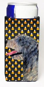 Carolines Treasures SS4299MUK Irish Wolfhound Candy Corn Halloween Portrait Michelob Ultra s For Slim Cans - 12 oz.