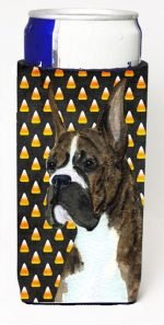 Carolines Treasures SS4301MUK Boxer Candy Corn Halloween Portrait Michelob Ultra s For Slim Cans - 12 oz.