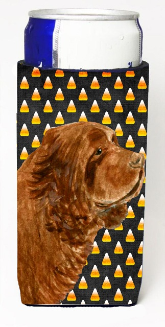 Carolines Treasures SS4303MUK Sussex Spaniel Candy Corn Halloween Portrait Michelob Ultra s For Slim Cans - 12 oz.