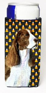 Carolines Treasures SS4306MUK Springer Spaniel Candy Corn Halloween Portrait Michelob Ultra s For Slim Cans - 12 oz.