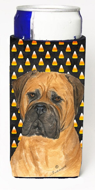 Carolines Treasures SS4310MUK Bullmastiff Candy Corn Halloween Portrait Michelob Ultra s For Slim Cans - 12 oz.